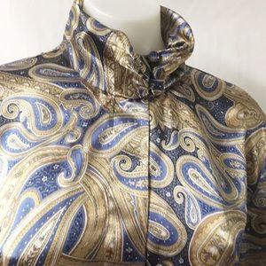 Vintage Tops - Blue & Gold Vintage Top Size 14
